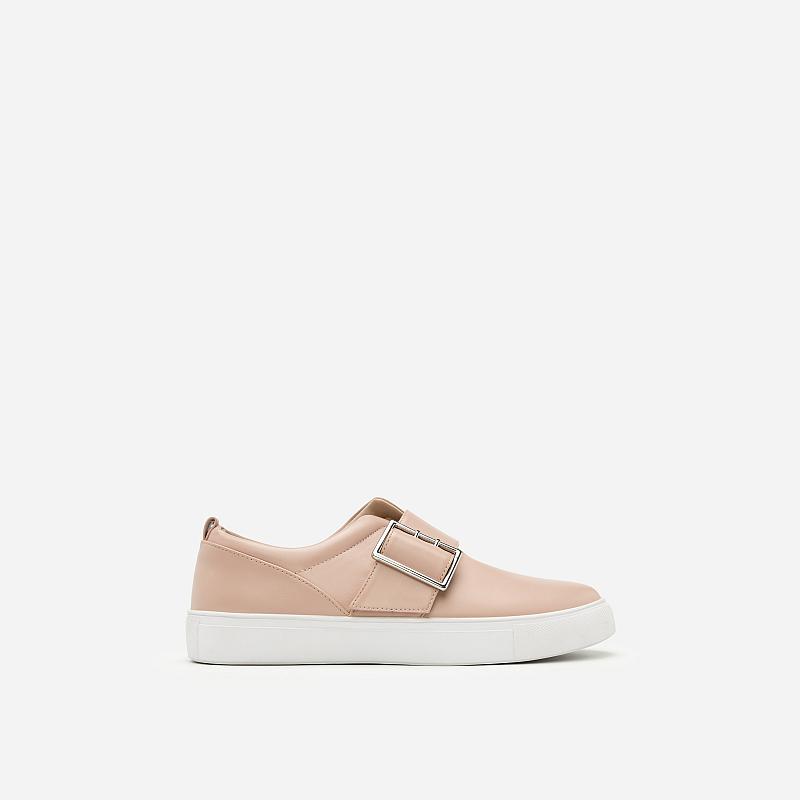 Giày Sneaker Da Bóng Phối Khóa – SNK 0019 – Màu Hồng