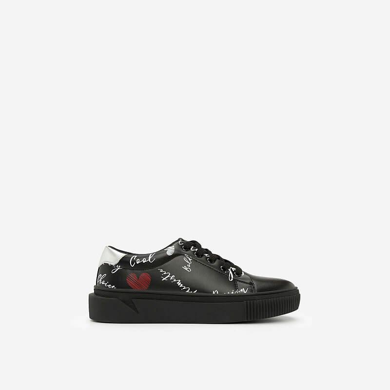 Giày Sneaker In Họa Tiết – SNK 0020 – Màu Đen