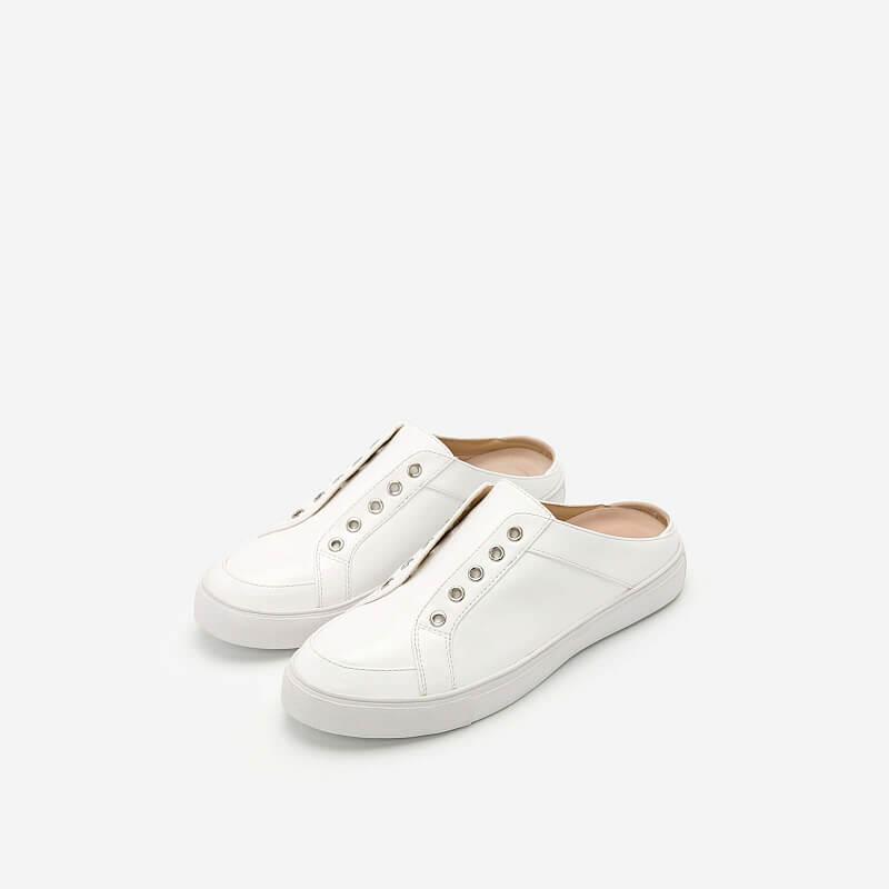 Giày Sneaker Hở Gót – SNK 0021 – Màu Trắng
