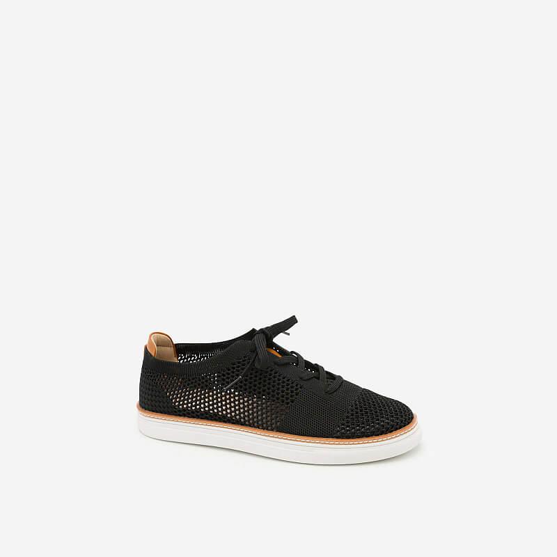 Giày Sneaker Phối Lưới – SNK 0006 – Màu Đen