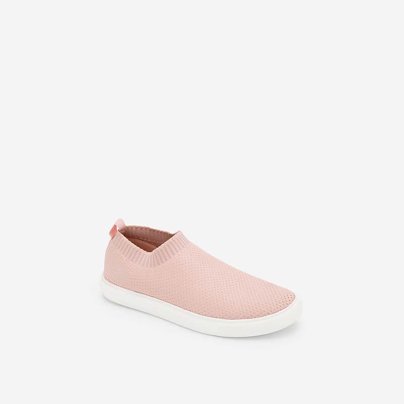 Giày Sneaker Phối Vải Mesh – SNK 0024 – Màu Hồng