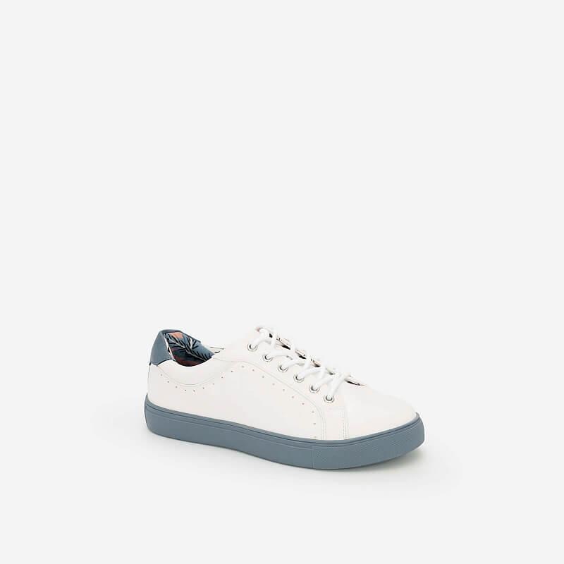 Giày Sneaker Họa Tiết Nhiệt Đới – SNK 0025 – Màu Xanh Da Trời