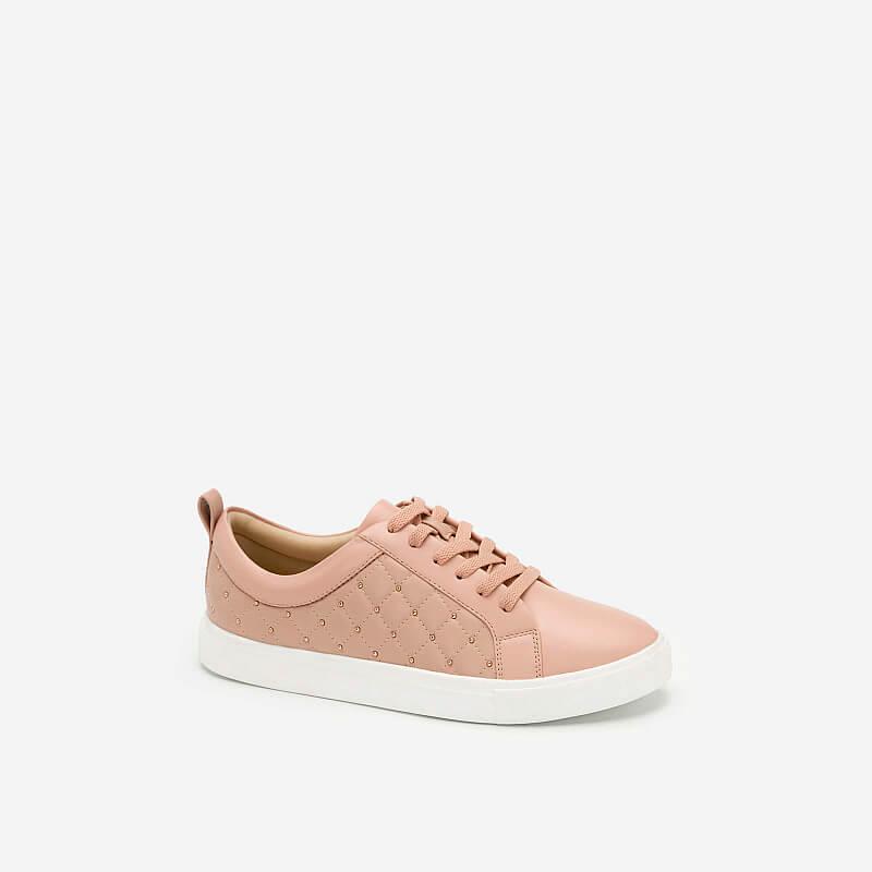 Giày Sneaker Chần Bông Đính Kim Loại – SNK 0026 – Màu Hồng