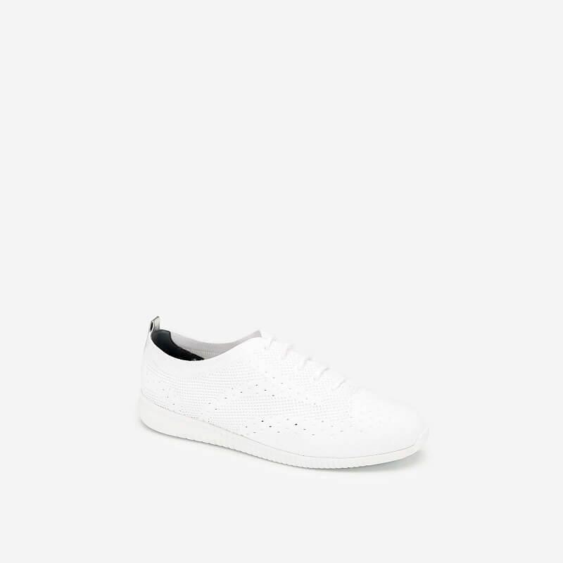 Giày Sneaker Vải Đan Sợi Knit – SNK 0028 – Màu Trắng