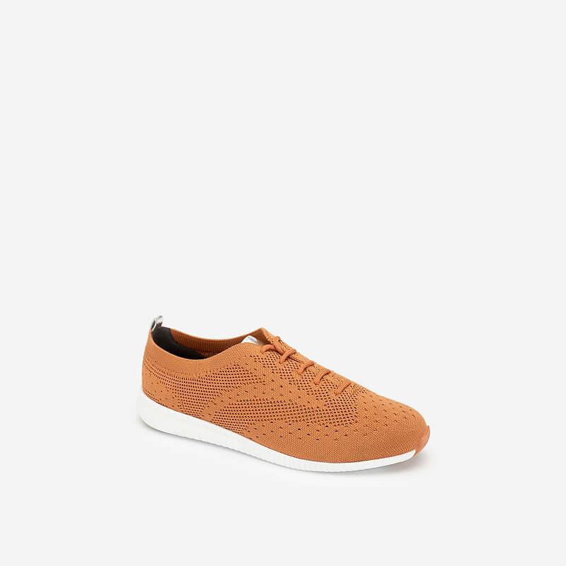 Giày Sneaker Vải Đan Sợi Knit – SNK 0028 – Màu Cam Đậm