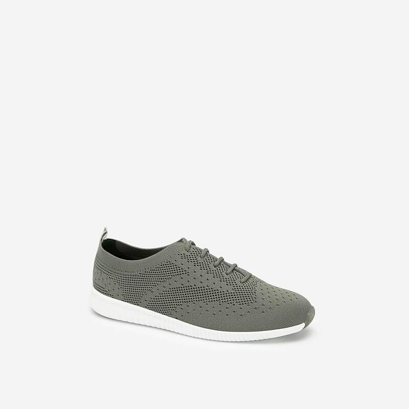 Giày Sneaker Vải Đan Sợi Knit – SNK 0028 – Màu Xanh Rêu