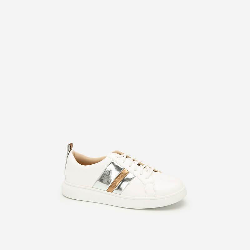 Giày Sneaker Phối Metallic – SNK 0031 – Màu Trắng