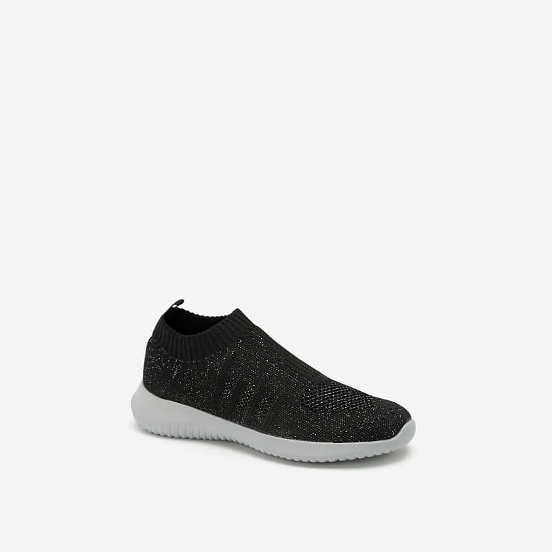 Giày Sneaker Vải Dệt LiteKnit – SNK 0030 – Màu Đen