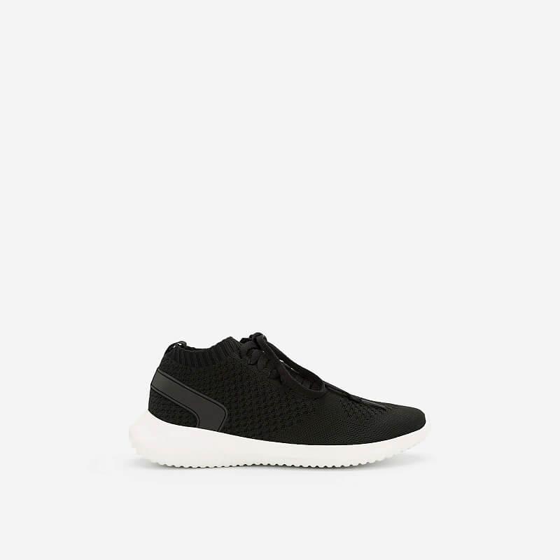 Giày Sneaker Vải Knit Cổ Co Giãn – SNK 0022 – Màu Đen