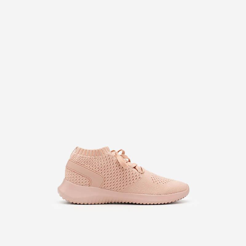 Giày Sneaker Vải Knit Cổ Co Giãn – SNK 0022 – Màu Hồng