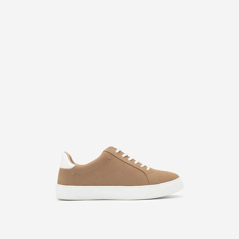 Giày Sneaker Da Nubuck – SNK 0039 – Màu Be Đậm