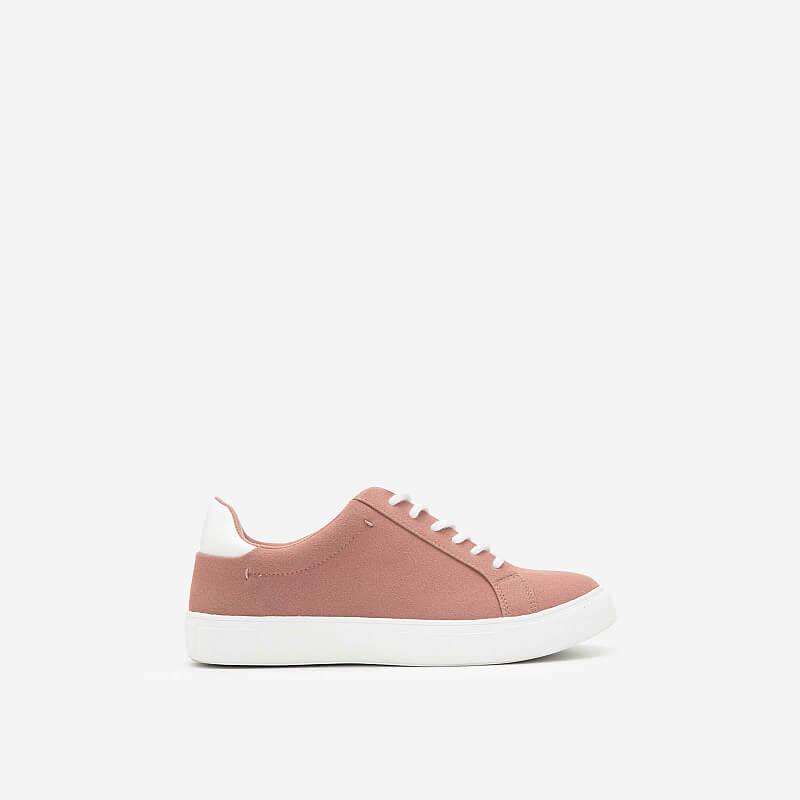 Giày Sneaker Da Nubuck – SNK 0039 – Màu Hồng Đậm
