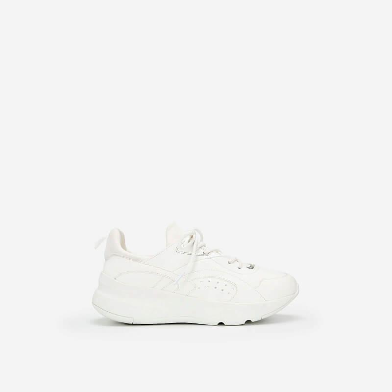 Giày Sneaker Viền Chỉ Nối Cổ Co Giãn – SNK 0036 – Màu Trắng